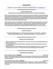 Field Consultant Sle Resume by Field Consultant Resume Sle Template