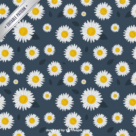 daisy background pattern vector daisies pattern vector free download