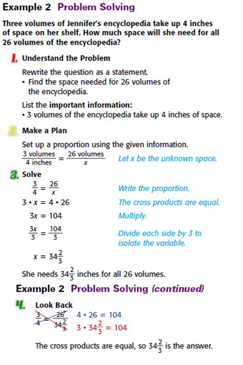 gallimore math course 2 solving proportions