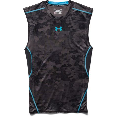 Ua Wings Of Time Green Moss Compression Ls Moon Compression armour s ua heatgear armour printed sleeveless compression shirt