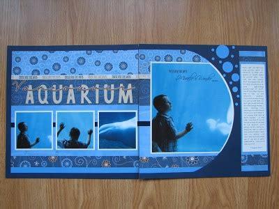 scrapbook layout aquarium aquarium layout scrapbooking pinterest