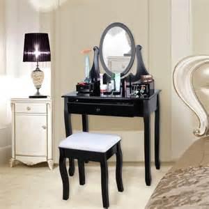 Merveilleux Miroir Pivotant Avec Rangement #1: songmics-r-coiffeuse-avec-tabouret-tiroir-et-mir.jpg