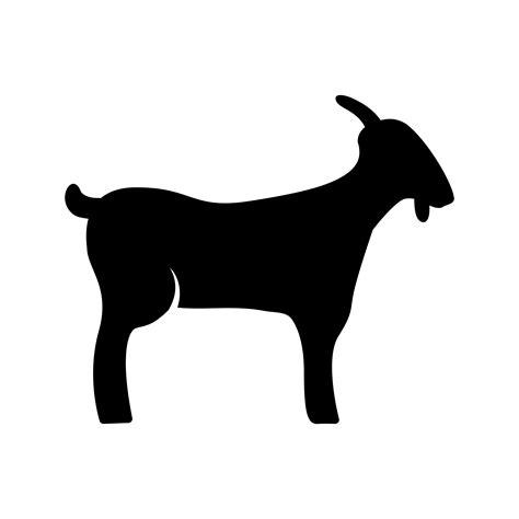 goat glyph black icon   vectors clipart