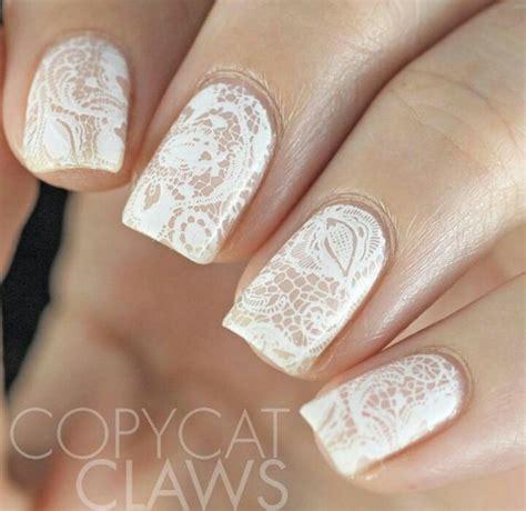 awesome lace wedding manicure ideas