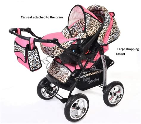 Carset 3in1 Animal Print you and baby kamil 3in1 travel system with car seat colour pink leopard