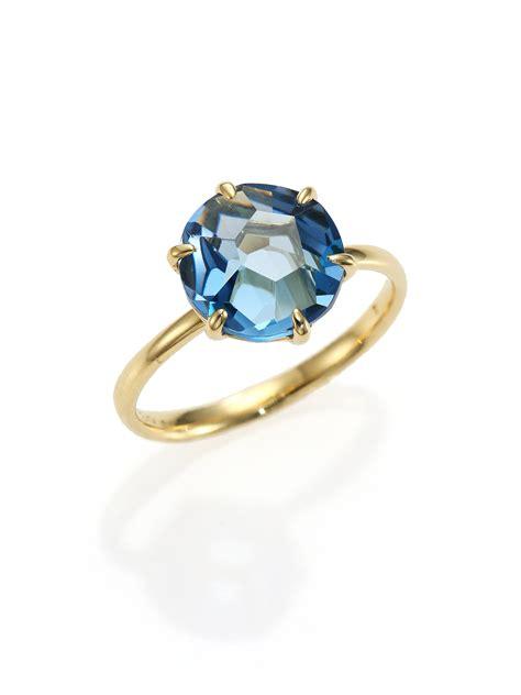 ippolita rock blue topaz 18k yellow gold