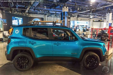 modded jeep renegade semashow seen here jeep shows us the potential of