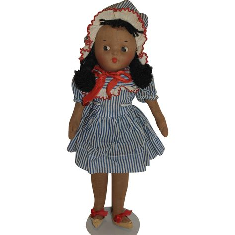 black doll 1940 1940 s mask cloth black doll from debscedarchest on