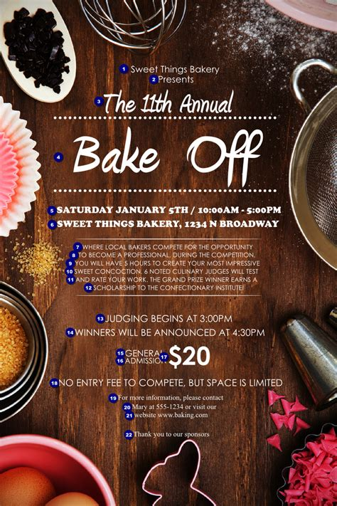 baking poster canada ticket printing