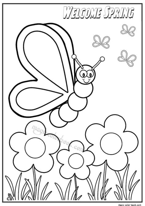 Welcome Spring Coloring Pages Springtime Coloring Pages