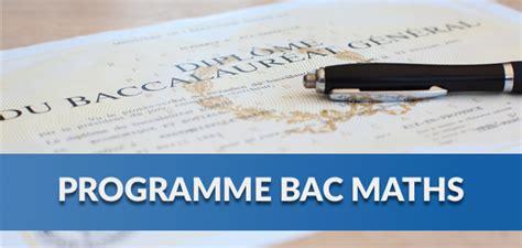 bac maths 2018 chapitres au programme en maths bac 2018