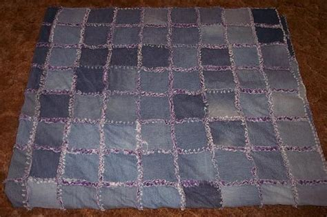 frayed denim quilt 7 steps