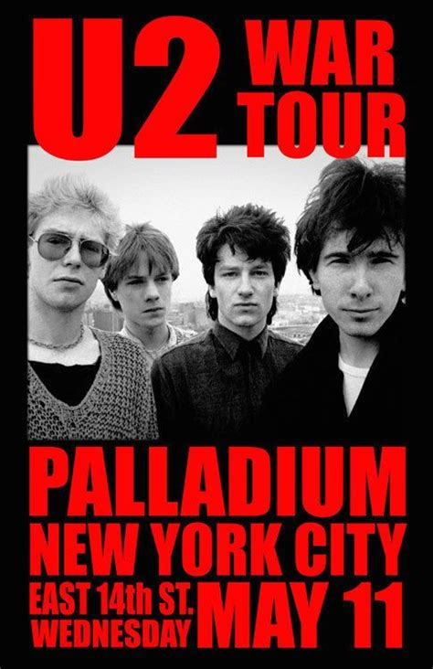 Poster U2 Band M102 pin by greg on from the wayback machine