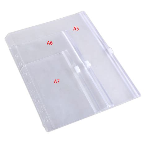 A5 A6 Schedule Leaf Insert a5 a6 a7 size zip lock envelope zippered binder pocket