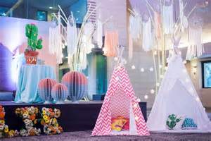1st Birthday Party Decorations At Home ellie s coachella themed party 1st birthday party doll