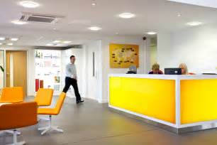 Yellow Reception Desk Yellow Reception Desk From Www Whitespace Org Uk Reception Furniture Reception