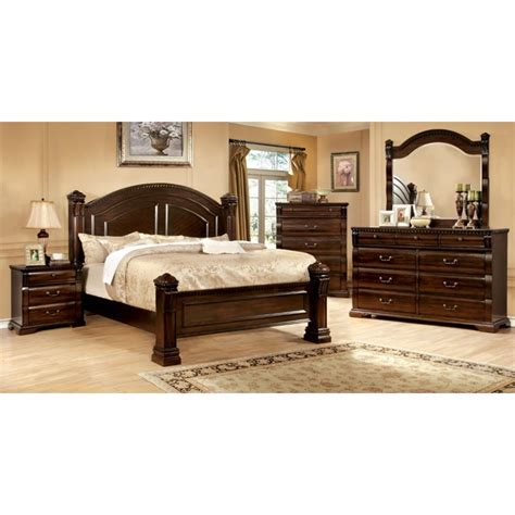furniture of america oulette 4 piece queen bedroom set in