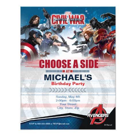 Captain America Birthday Card Captain America Civil War Birthday Card Zazzle