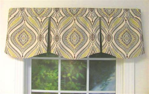 box window valance shaped valances solid patterned cornice box pleat