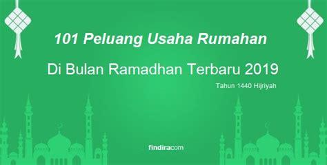 peluang usaha rumahan  bulan ramadhan terbaru