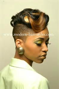 black hair with shafed sides shaved short razor cut hairstyles for black women