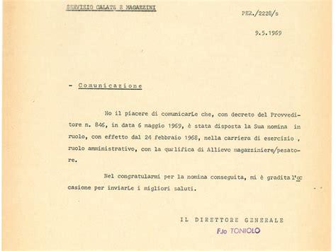 lettere di assunzione lettera di assunzione a ruolo porto di venezia