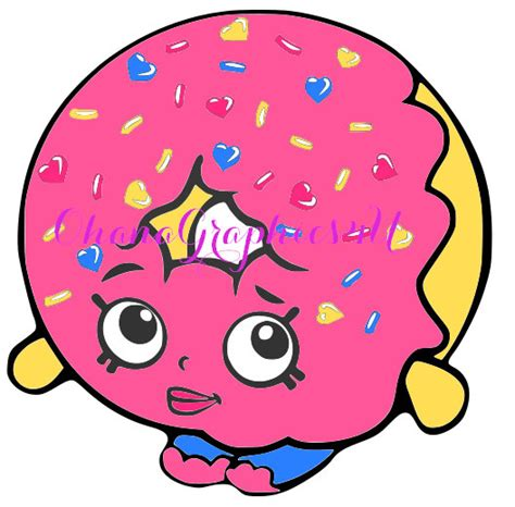 shopkins dlish donut shopkins inspired d lish donut svg