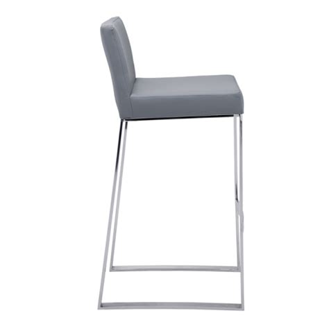 Gray Colored Stool by Architect Bar Stool Grey Buy Faux Leather Bar Stools