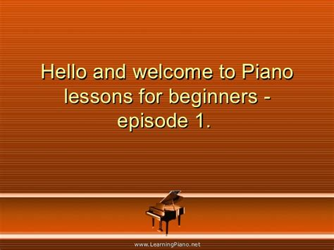tutorial piano lesson for beginners piano lessons for beginners