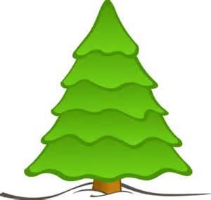 plain christmas trees clipart best