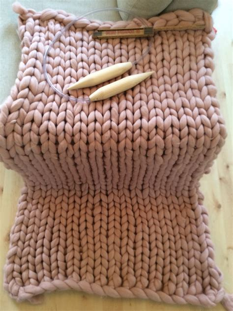 knitting blanket tjockt knitted roving blanket knitting with