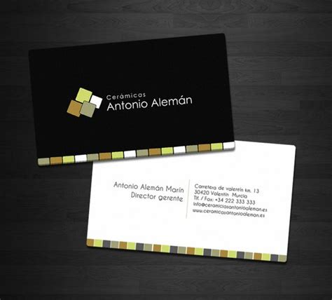 business cards designs templates for tile installer tile business cards tile design ideas