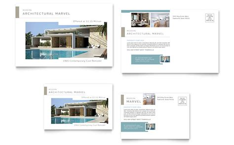 Modern Real Estate Postcard Template Design Real Estate Postcard Templates