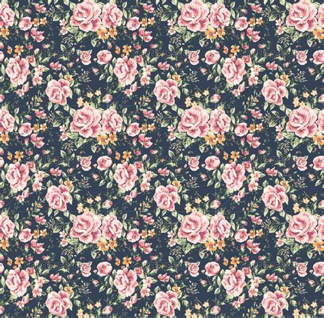 pattern for flower vintage flower pattern on navy background hd wallpapers