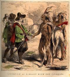 indians at first thanksgiving inkspired musings thanksgiving history pilgrims indians