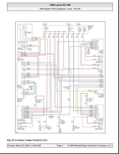 2000 Lexus Rx300 Frt Marker Light Wiring Diagram