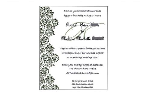 invitation card template publisher wedding invitation wording wedding invitations templates