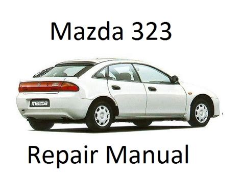electric and cars manual 1998 mazda protege engine control mazda 323 protege bg 6th generation repair manual
