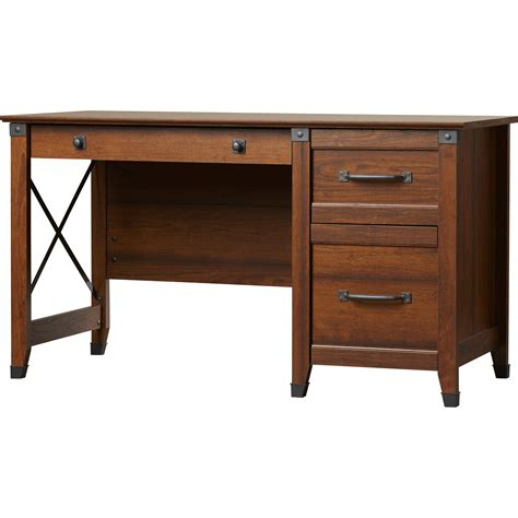 loon peak newdale computer desk with 3 drawers reviews