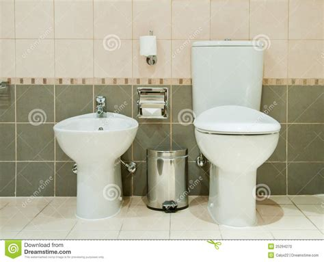 bathroom with bidet modern bathroom with toilet and bidet stock photo image