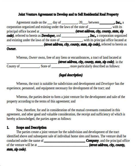 10 Sle Joint Venture Agreements Sle Templates Joint Venture Agreement Template