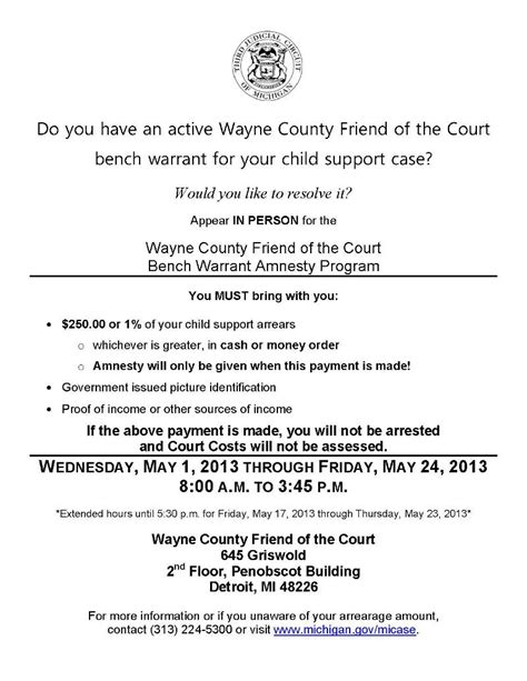 bench warrant for child support dmba quot barnews quot e newsletter april 2013