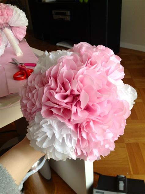 How To Make A Tissue Paper Flower Bouquet - okay do my tissue paper flowers look cheap weddingbee