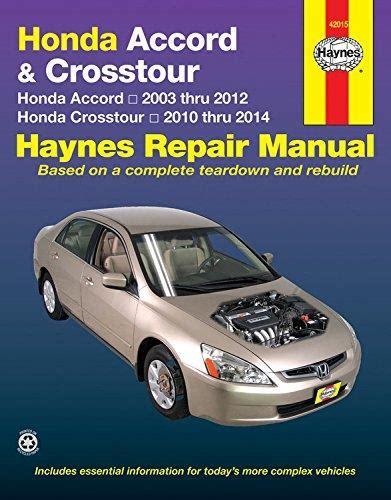 Honda Accord 2003 2014 Haynes Service Repair Manual