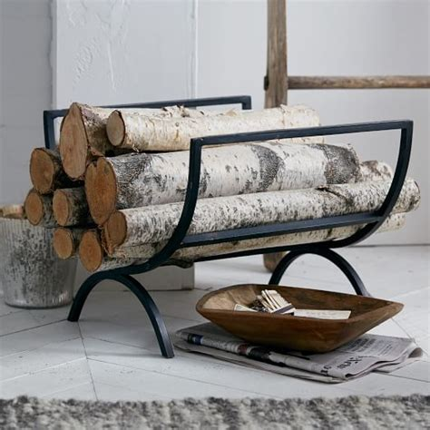 rings fireplace log holder west elm