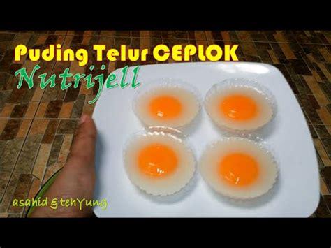 cara membuat puding art youtube cara membuat puding telur ceplok nutrijell youtube