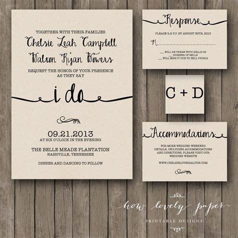 invitation design by morgan printable wedding invitation suite the ella by