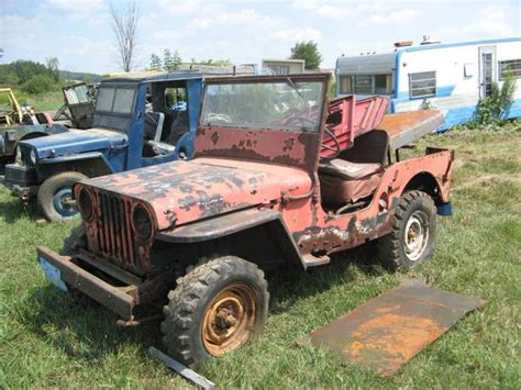 Browns Jeep Service 3 Cj 2as 1 Cj 5 Finger Lakes Ny Sold Ewillys