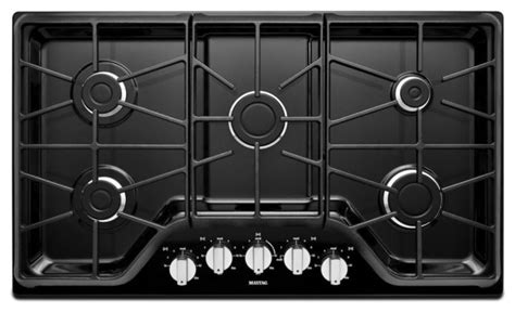 modern gas cooktop maytag mgc7536de black gas cooktop modern cooktops