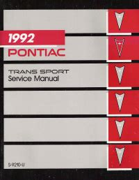 service repair manual free download 1992 pontiac trans sport electronic throttle control 1992 pontiac trans sport service manual